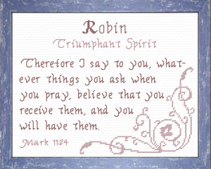 Name Blessings - Robin 2 | Crafting | Cross-Stitch | Other