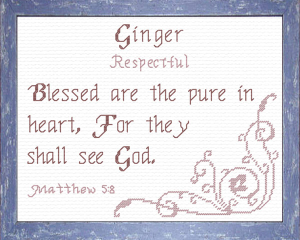 Name Blessings - Ginger   Crafting   Cross-Stitch   Other