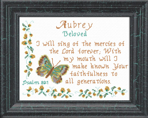 Name Blessings - Aubrey | Crafting | Cross-Stitch | Other