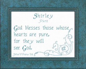 Name Blessings - Shirley 3 | Crafting | Cross-Stitch | Other