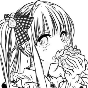 little japanese cartoon girl