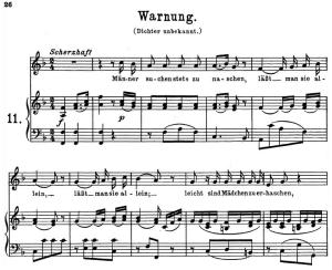 Warnung K.433-416c, High or Medium Voice in F Major, W.A. Mozart, C.F. Peters (Friedlaender). A4   eBooks   Sheet Music