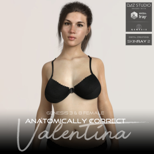 anatomically correct: valentina for genesis 3 and genesis 8 female