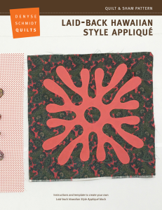 Laid-back Hawaiian Style Appliqué | Crafting | Sewing | Other