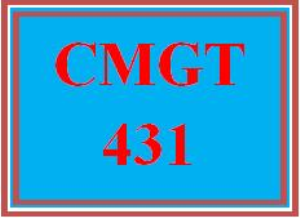 CMGT 431 Week 3 Learning Team: Testing and Assessment Strategies | eBooks | Education