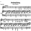 Abendempfindung an Laura K.523, Medium Voice in E-Flat Major, W.A. Mozart., C.F. Peters (Friedlaender). A4 | eBooks | Sheet Music