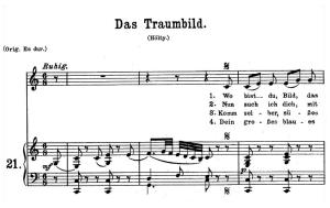 Das Traumbild K.530, Medium Voice in C Major, W.A. Mozart., C.F. Peters (Friedlaender). A4 | eBooks | Sheet Music