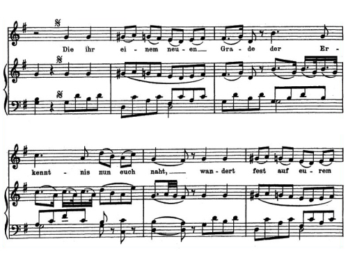 First Additional product image for - Gesellenreise K.468 Medium or Low Voice in G Major, W.A. Mozart. C.F. Peters (Friedlaender). A4
