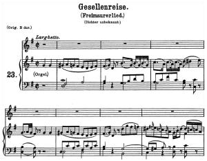 Gesellenreise K.468 Medium or Low Voice in G Major, W.A. Mozart. C.F. Peters (Friedlaender). A4 | eBooks | Sheet Music