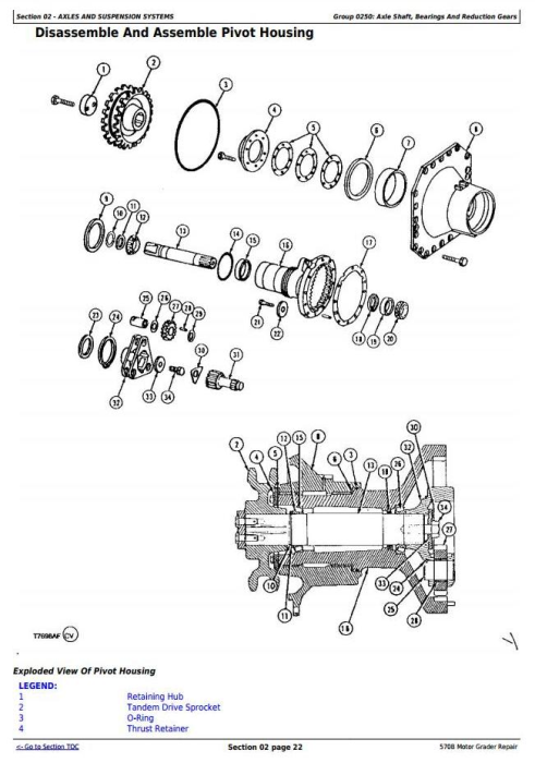 Second Additional product image for - John Deere 570B Motor Grader Service Repair Technical Manual  (tm1400)