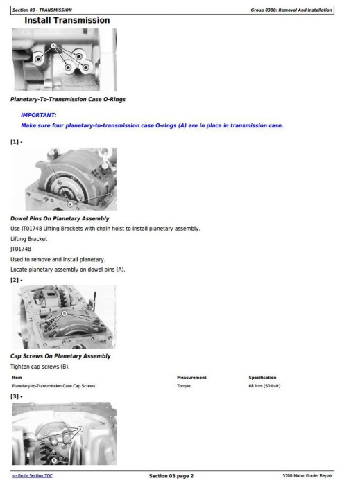 Third Additional product image for - John Deere 570B Motor Grader Service Repair Technical Manual  (tm1400)