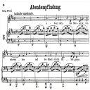 Abendempfindung an Laura K.523, Low Voice in D Major, W.A. Mozart., C.F. Peters (Friedlaender). A4   eBooks   Sheet Music