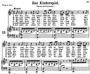 das kinderspiel k.498, low voice in g major, w.a. mozart., c.f. peters (friedlaender). a4