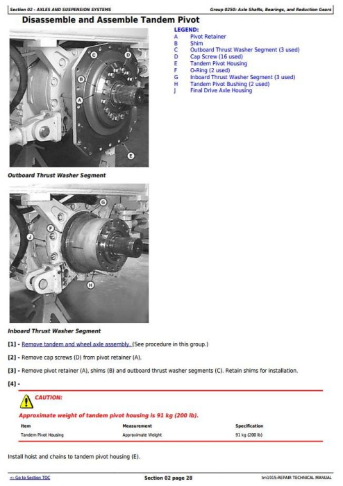 Second Additional product image for - John Deere 670C,670CH, 672CH,770C, 770CH,772CH Series II Motor Grader Service Repair Manual (tm1915)