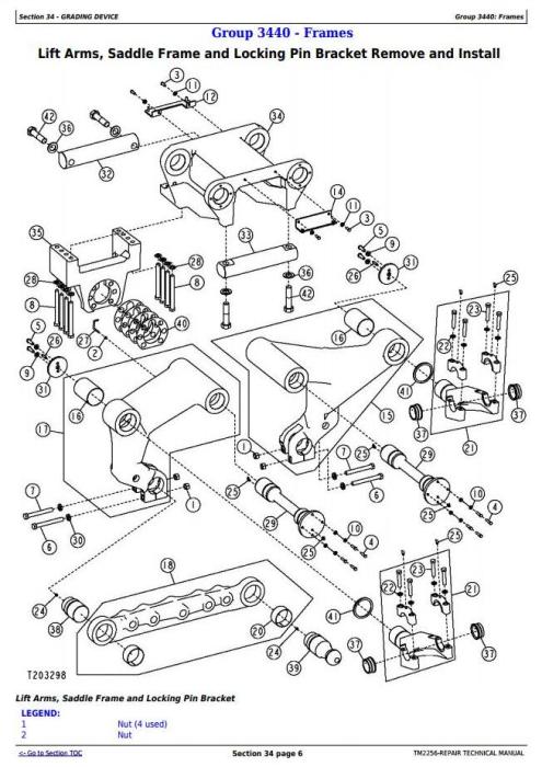 John Deere 670D, 672D, 770D, 772D, 870D, 872D Motor Grader