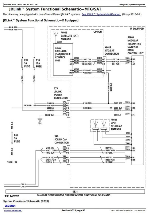 Second Additional product image for - John Deere 670G, 670GP, 672G, 672GP (SN. —634753) Motor Grader Diagnostic Service Manual (TM11204)