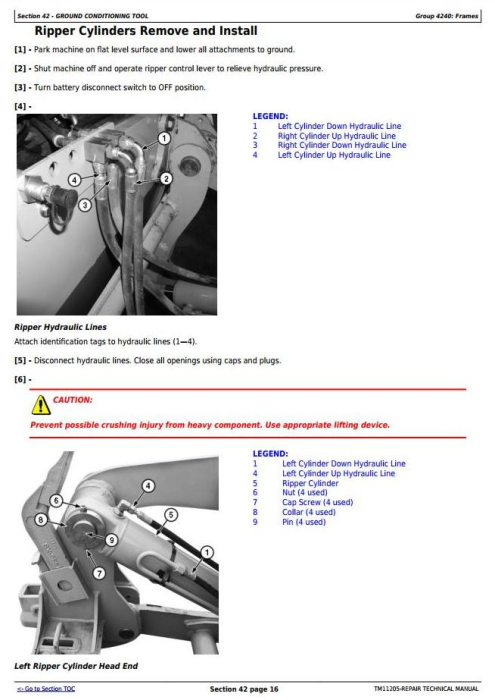 Fourth Additional product image for - John Deere 670G,670GP,672G,672GP (SN.-634753) Motor Grader Service Repair Technical Manual (TM11205)