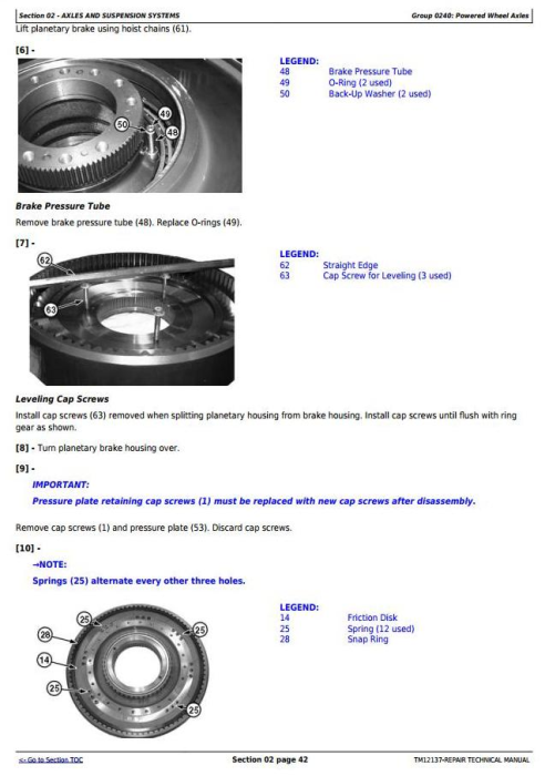 Second Additional product image for - John Deere 670G, 670GP, 672G, 672GP(SN.634380—656507) Motor Grader Repair Technical Manual (TM12137)