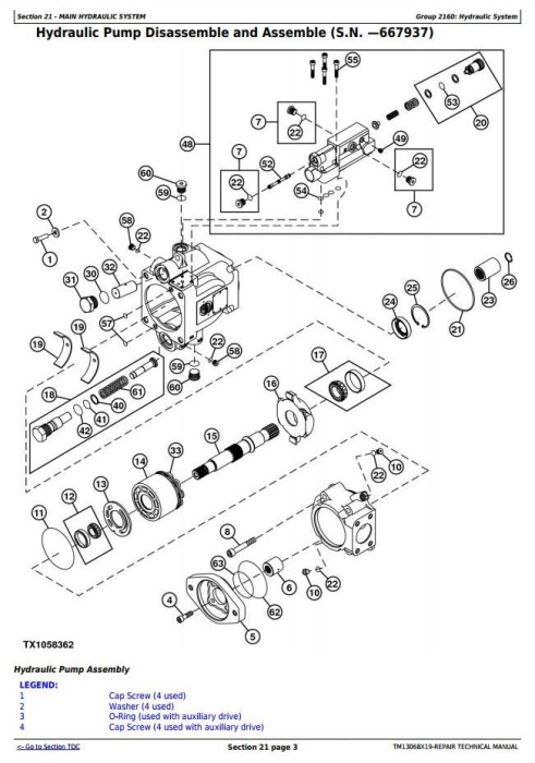 John Deere 670G, 670GP, 672G, 672GP (SN. 656729-) Motor