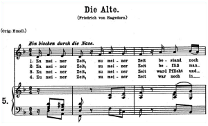 die alte k.517, low voice in d minor, w.a. mozart., c.f. peters (friedlaender). a4