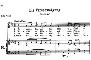die verschweigung k.518, low voice in e-flat major. w.a. mozart., c.f. peters (friedlaender). a4