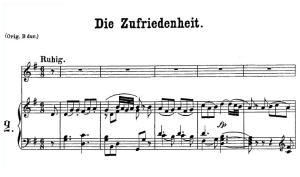 die zufriedenheit k.473, low voice in g major, w.a. mozart., c.f. peters (friedlaender). a4