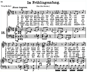 im frühlingsanfang k.497, low voice in d major, w.a. mozart., c.f. peters (friedlaender). a4