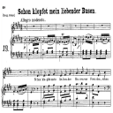 "Schon klopfet mein liebender busen K.579 Low Voice in E Major. German Version of ""Un moto di gioia"", in german only. W.A. Mozart., C.F. Peters (Friedlaender). A4 