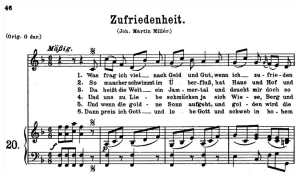 "zufriedenheit k.349-367a, ""was frage ich viel"", low voice in f major, w.a. mozart., c.f. peters (friedlaender). a4"