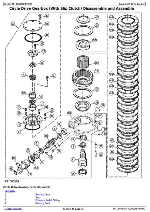 Fourth Additional product image for - John Deere 770G,770GP, 772G,772GP (SN.-634753) Motor Grader Service Repair Technical Manual(TM11207)