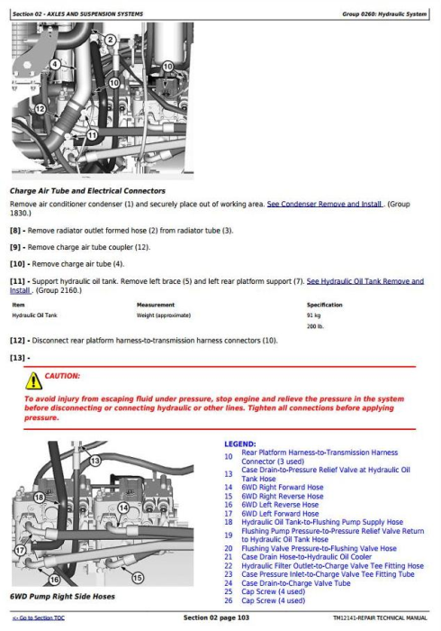 Third Additional product image for - John Deere 770G, 770GP, 772G, 772GP(SN.634380-656507) Motor Grader Repair Technical Manual (TM12141)