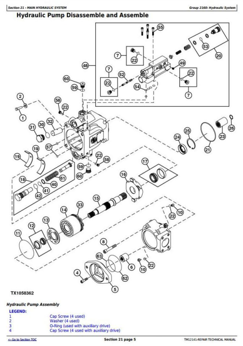Fourth Additional product image for - John Deere 770G, 770GP, 772G, 772GP(SN.634380-656507) Motor Grader Repair Technical Manual (TM12141)