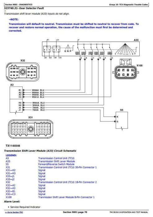 Second Additional product image for - John Deere 770G, 770GP, 772G, 772GP(SN.F656526-678817) Grader Diagnostic Service Manual (TM13026X19)