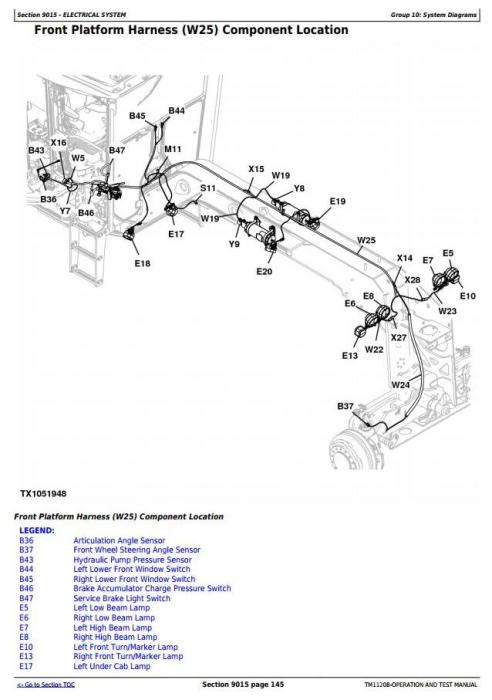 Fourth Additional product image for - John Deere 870G, 870GP, 872G, 872GP (SN.-634753)Motor Grader Diagnostic&Test Service Manual(TM11208)
