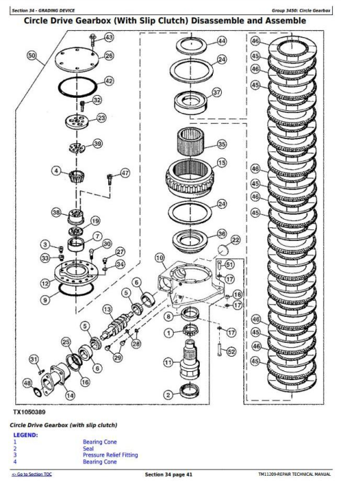Fourth Additional product image for - John Deere 870G, 870GP,872G, 872GP(SN.-634753) Motor Grader Service Repair Technical Manual(TM11209)