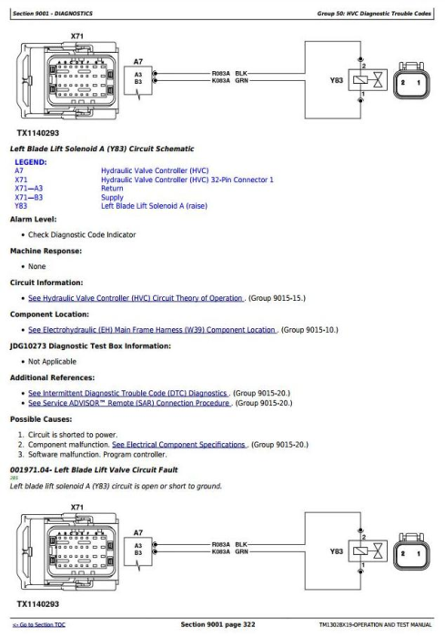 Second Additional product image for - John Deere 870G, 870GP, 872G, 872GP (SN.F656526-678817) Grader Diagnostic Service Manual(TM13028X19)