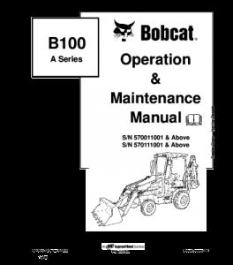 Download Bobcat 100ba Series Backhoe Loader Operation And Maintenance Service Manual | eBooks | Automotive