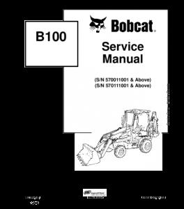 Download Bobcat  B100 Backhoe Loader Service Manual   eBooks   Automotive