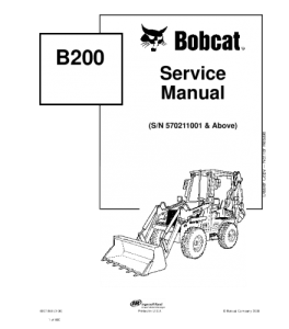 Download Bobcat  B200 Backhoe Loader Service Manual | eBooks | Automotive