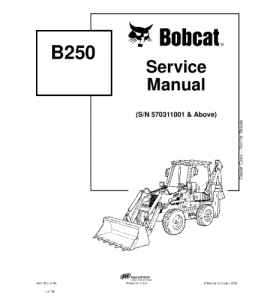 Download Bobcat  B250 Backhoe Loader Service Manual | eBooks | Automotive