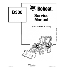 Download Bobcat  B300 B Series Backhoe Loader Service Manual | eBooks | Automotive