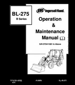 Download Bobcat Bl-275 Bl275 Backhoe Loader Operation And Maintenance Service Manual | eBooks | Automotive