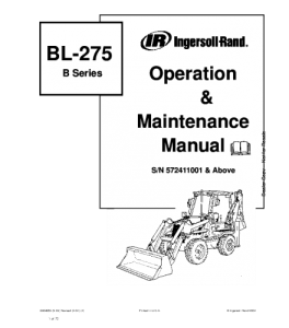 Download Bobcat Bl275 Bl-275 B Series Backhoe Loader Service Manual | eBooks | Automotive