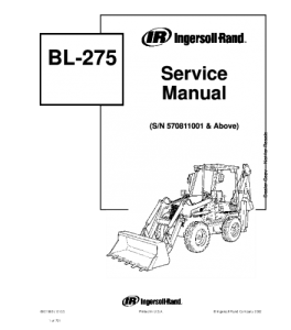 Download Bobcat Bl275 Bl-275 Backhoe Loader Service Manual | eBooks | Automotive