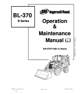 Download Bobcat Bl370 Bl-370 Backhoe Loader Operation And Maintenance Service Manual | eBooks | Automotive