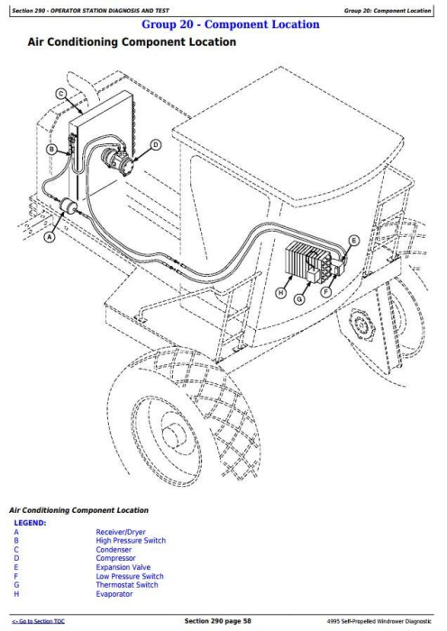 Fourth Additional product image for - John Deere 4995 Self-Propelled Windrowers Hay and Forage Diagnostic & Tests Service Manual (TM2036)