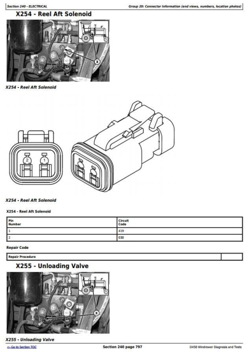 Third Additional product image for - John Deere D450 Self-Propelled Hay and Forage Windrower Diagnostic & Tests Service Manual (TM108919)