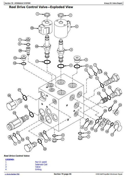 Fourth Additional product image for - John Deere D450 Self-Propelled Hay and Forage Windrowers Service Repair Technical Manual (TM108819)