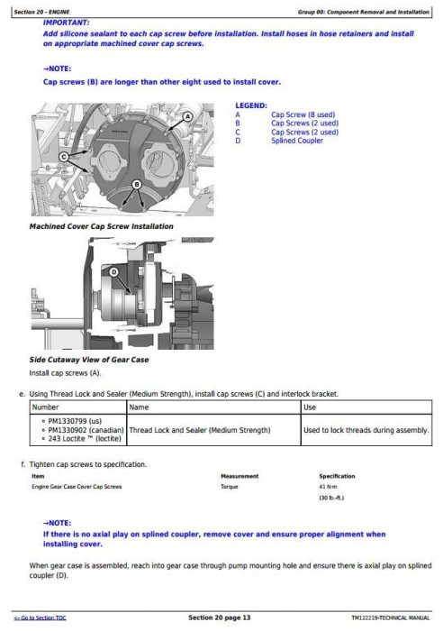 Fourth Additional product image for - John Deere W150 Self-Propelled Hay&Forage Windrower Diagnostic & Repair Technical Manual (TM122219)