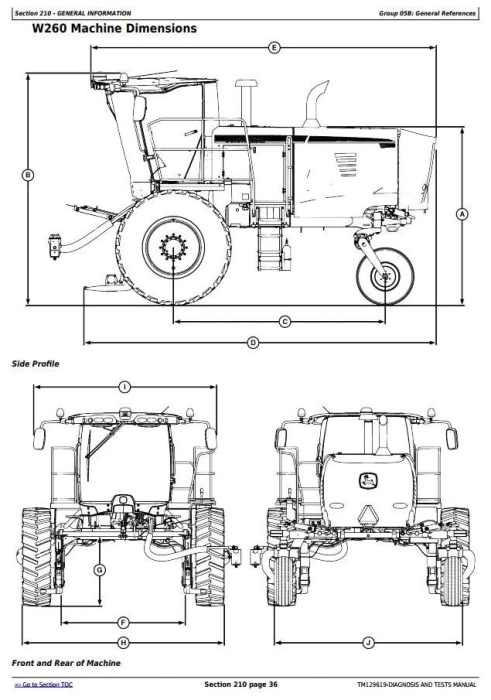 First Additional product image for - John Deere W235, W260 Rotary Self-Propelled Hay&Forage Windrower Diagnostic Service Manual(TM129619)